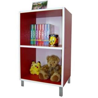 【美佳居】美背式2格-高腳書櫃-置物櫃-收納櫃(三色可選)