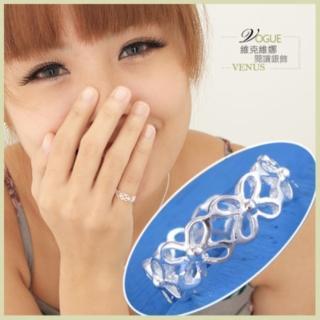 【維克維娜】花之慢舞。串串小花交織戒指。925純銀戒指
