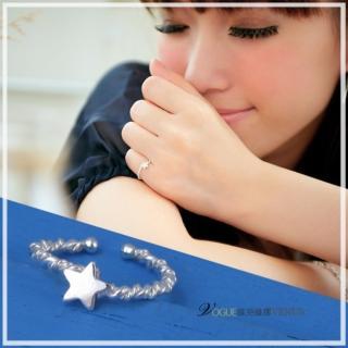【維克維娜】耀然星晴。經典纏繞小星星925純銀戒指