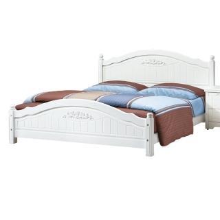 【顛覆設計】塞西莉6尺白色雙人床架(不含床墊、床頭櫃)