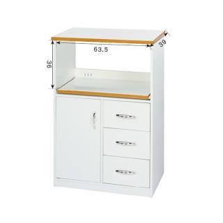 【顛覆設計】潮濕剋星-防水塑鋼2.2尺餐櫃/電器櫃
