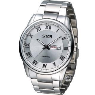 【STAR】時代 羅馬戰士石英腕錶(1T1407-211S-S)