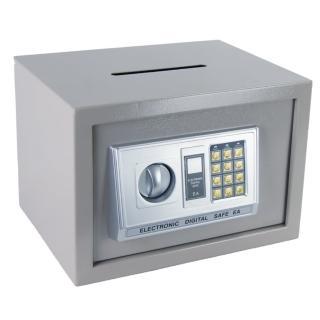 【TRENY】HWS-HD-4434-電子式投入型中型保險箱/金庫-灰(限時特殺)