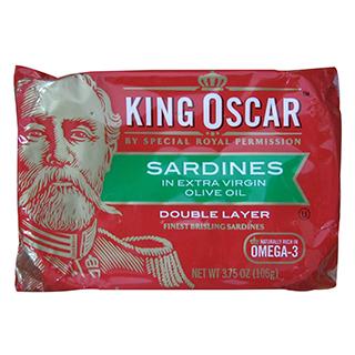 ~King Oscar~奧斯卡國王橄欖油迷你沙丁魚^(106g^)