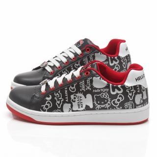 【三麗鷗】Hello Kitty女款 塗鴉風休閒鞋(914112-黑)
