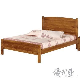 【優利亞-夏野】雙人5尺實木床架