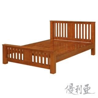【優利亞-杰曼】加大6尺實木床架