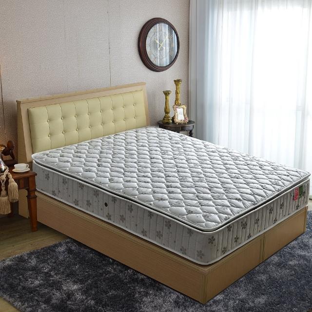 【睡芝寶】正三線乳膠-竹碳紗-蜂巢獨立筒床墊(雙人加大6尺)