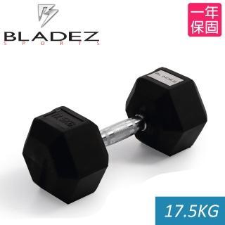 【Bladez】六角包膠啞鈴-17.5Kg
