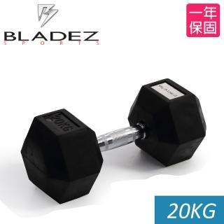 【Bladez】六角包膠啞鈴-20Kg