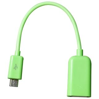 【GCOMM】Micro USB OTG 資料傳輸線(蘋果綠 約15cm)