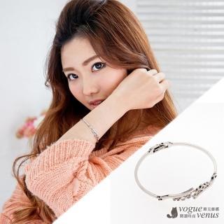 【維克維娜】亂世佳人 仿水波紋鑲鑽氣泡韓系手環