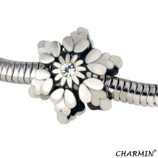 【E&I】CHARMIN 時尚創意手鍊  雪花  925純銀造型串珠