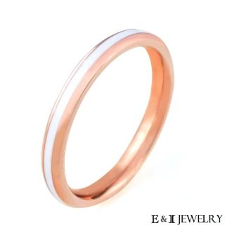 【E&I】-簡單的快樂- 316L白鋼戒指(玫瑰金)