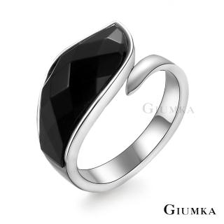 【GIUMKA個性潮男】風湧再起戒指  德國精鋼 黑瑪瑙 個性潮男款  MR03035(銀色)