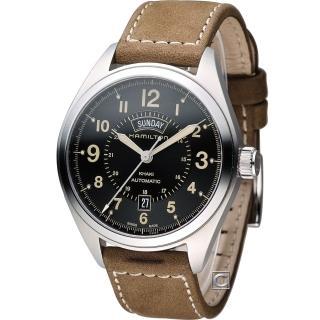 【HAMILTON】漢米爾頓卡其陸戰雙曆機械腕錶(H70505833)