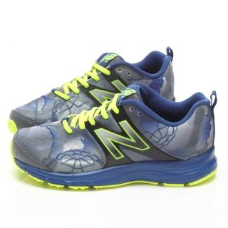 【NewBalance】大童輕量水墨風運動鞋(KJ891B6G-藍)
