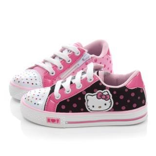 【三麗鷗】Hello Kitty中大童彩色水鑽點點帆布鞋(714881)