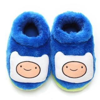 【童鞋城堡】探險活寶阿寶立體造型保暖絨毛室內拖(AT0359-藍)