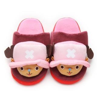 【童鞋城堡】航海王喬巴造型絨毛保暖室內拖(OP2227)