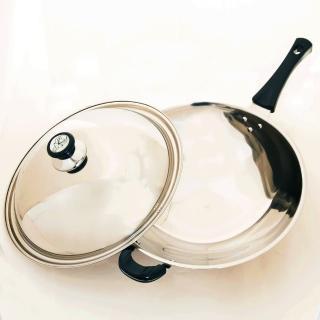 【台灣好鍋-加賀系列】七層不鏽鋼炒鍋(36cm)