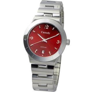 【Canody】涼夏戀語時尚腕錶(紅-35mm-CM9803-D)