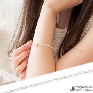 【維克維娜】氣質婉約 編織麻花鍊純銀手鍊