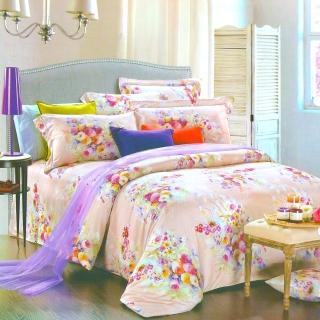 【Betrise艾菲爾花園】雙人100%奧地利天絲TENCEL四件式兩用被床包組