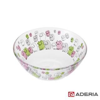 【ADERIA】日本進口Instyle貓咪玻璃碗(貓的集會款)