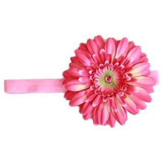 【美國Jamie Rae】女童/女生寶寶100%純棉髮帶_糖果粉細髮帶+糖果粉雛菊(JRFBD02)