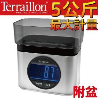 【Terraillon】法國直立式電子料理秤+盆(時尚銀*116244)