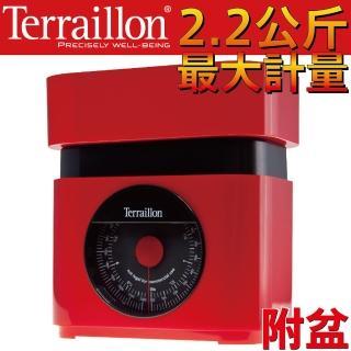 【Terraillon】法國直立式指針料理秤+盆(玫瑰紅*116251)
