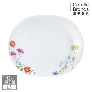 【美國康寧 CORELLE】花漾彩繪12吋腰子盤(611)