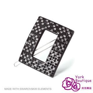 【約克精品】黑鑽願望施華洛元素晶鑽(手工髮夾 髮飾)
