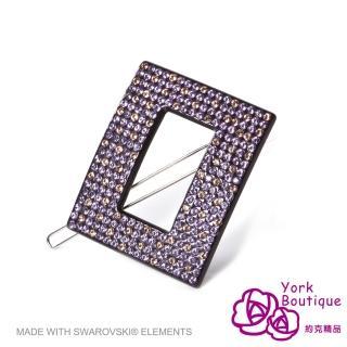 【約克精品】紫鑽願望施華洛元素晶鑽(手工髮夾 髮飾)