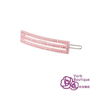 【約克精品】粉紅鑽風雅日系施華洛元素晶鑽(手工髮夾 髮飾)