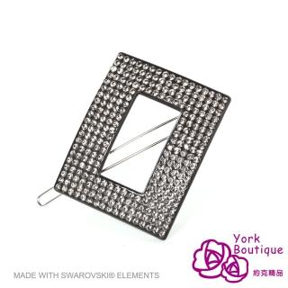 【約克精品】灰鑽願望施華洛元素晶鑽(手工髮夾 髮飾)