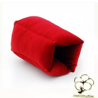 【采棉居】密絲絨多功能手枕(紅色-2入)