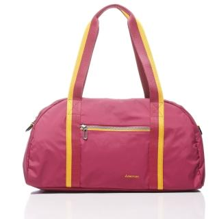 【KAWASAKI】超優質休閒旅行袋(桃)