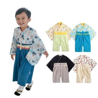 【baby童衣】兒童套裝 寶寶連身衣 男和服套裝 假兩件日式經典造型和服 37303(黑色)
