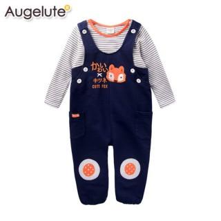 【baby童衣】套裝 狐狸刺繡貼布吊帶褲+上衣 47006(深藍)
