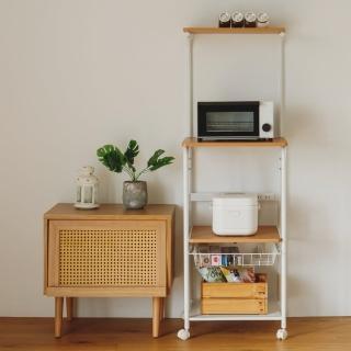 【樂活主義】移動式廚房四層置物架/收納櫃/電器架