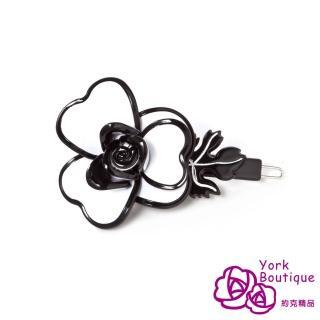 【約克精品】白色玫瑰(手工髮夾 髮飾)