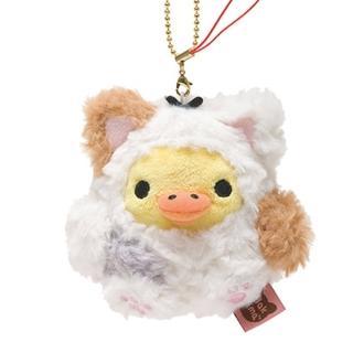 【San-X】拉拉熊悠閒貓生活系列毛絨公仔吊飾(小雞)