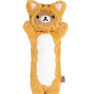 【San-X】拉拉熊悠閒貓生活系列毛絨公仔筆袋包(懶熊)