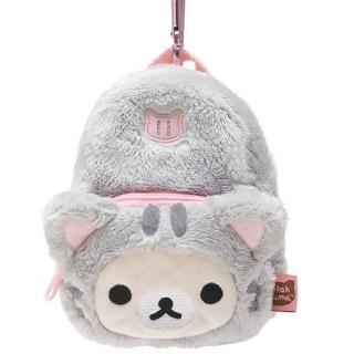 【San-X】拉拉熊悠閒貓生活系列背包造型吊掛收納包(懶妹)