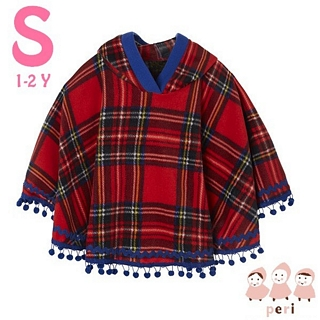 【美國 Peri】純手工 刷毛斗篷披風外套 - 蘇格蘭貴族(S號)