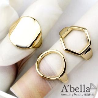 【A'bella菈蓓索系列】幾何密碼戒指(3個一套)