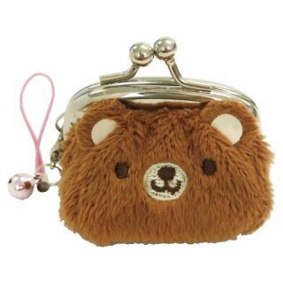【UNIQUE】動物樂園迷你珠扣零錢包(小棕熊)
