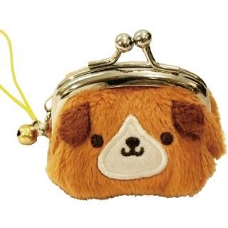【UNIQUE】動物樂園迷你珠扣零錢包(小棕狗)